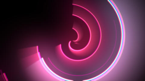 Motion colorful circles vertigo, abstract background Animation