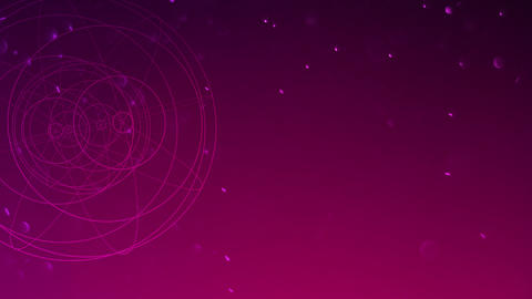 Motion geometric shape in space, abstract background Animation