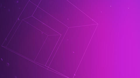 Motion geometric shape in space, abstract background CG動画