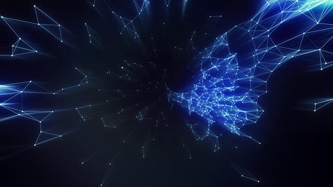 Fantasy Technology Loop Animation Plexus. Modern Graphic Background Business Concept. Futuristic CG動画