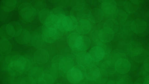 Spinning Flickering Green Bokeh Animation