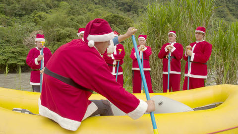 Christmas Elves On A Rafting Lesson Live Action