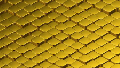 Isometric Sliding Oscilating Golden Ingots Animation