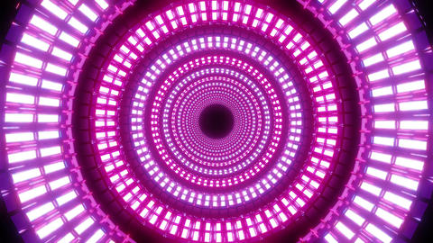 endless round abstract glowing colorful design with white pattern 3d Animation