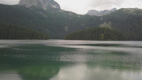 Black lake in Durmitor national park in Montenegro Footage