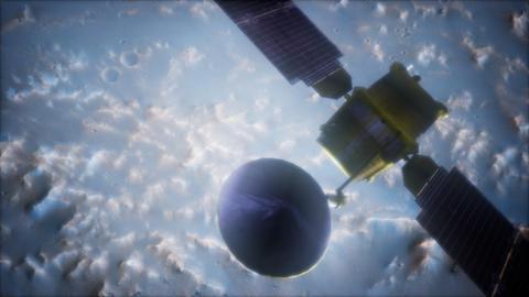Global Surveyor orbiting Mars planet Archivo