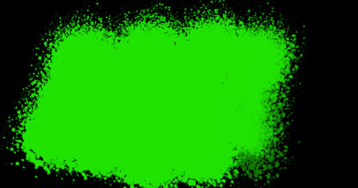 abstract paint brush stroke shape white ink splattering flowing and washing on chroma key green Footage
