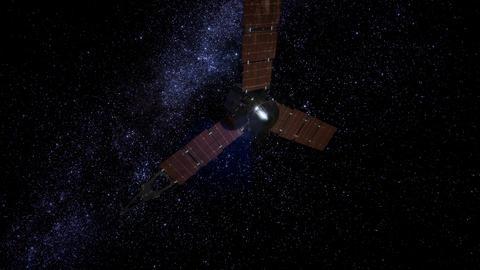 Juno sattelite orbiting Jupiter Archivo