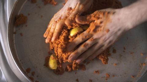 Preparing Steak Tartar A La Turca - Add Lemon and Salt Footage