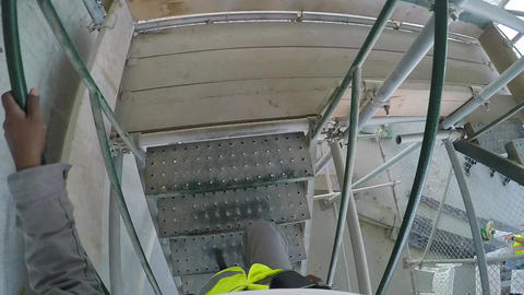 Worker s Eye Insıde Construction - Slow Motion Footage