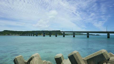 沖縄28 浜比嘉大橋 4K Footage