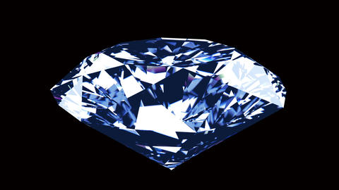 Spining diamond on a black background Animation