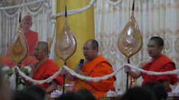 Monks praying in temple,Vientiane,Laos Footage