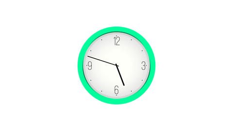 Animated clock counting down Animation