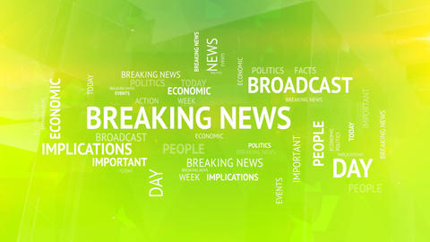 Breaking news tags concept background Animation