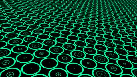 Moving technologic circles Animation