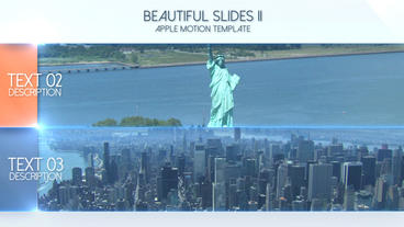 Beautiful Slides II - Apple Motion and Final Cut Pro X Template Apple Motion-Vorlage