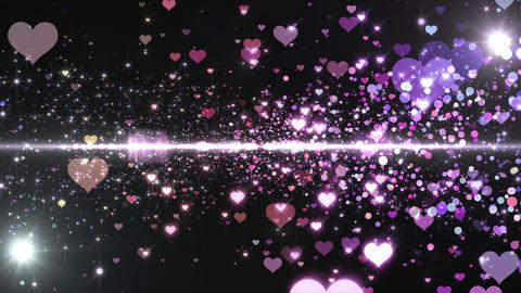 Lens Flares and Particles 16 heart F7b 4k Animation