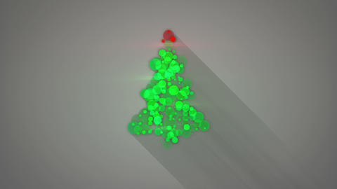 glowing christmas tree shape loopable animation Animation