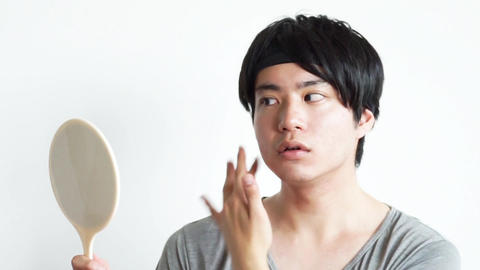 Beauty image face up (care moisturizing of men and skin) ビデオ