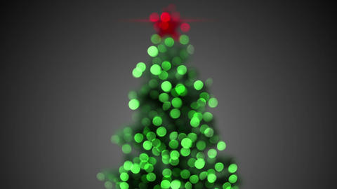blurred christmas tree loopable Animation