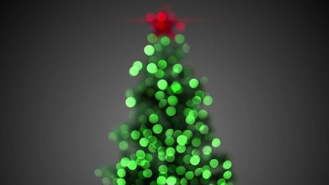 blurred christmas tree loopable Animation