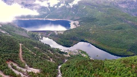 beautiful landscape of Norway. Troll Ladder Live Action