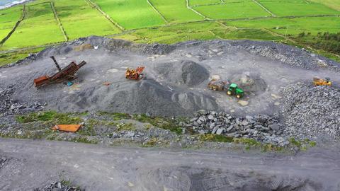 Aerial shot of slate quarry, Valentia Island, Ireland, Live Action