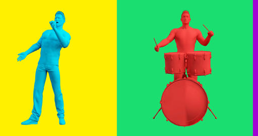 Music Band Group Playing in Concert Concept Footage