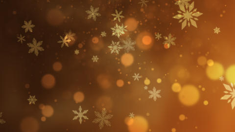 Abstract bokeh and snowflake falling. Happy New Year and Merry Christmas shiny background Videos animados