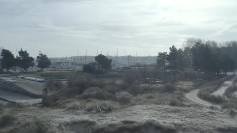 Sand dune and boats - Baie de Canche (France) d-log Live Action