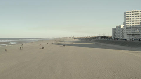 Dunkirk beach in winter (Dunkerque, France) d-log Live Action