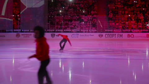 Light show on the ice arena 006 Live Action
