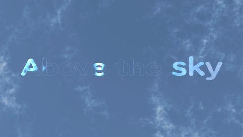 「どこまでも続く空の更に向こうへ」テンプレート After Effectsテンプレート