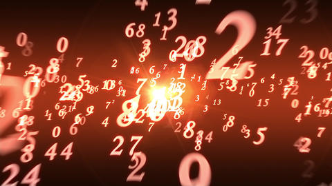 Numerology (secret knowledge about the numbers). Intro template. 3D animation Videos animados