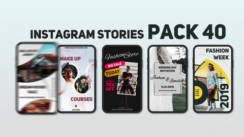 Instagram Stories Pack 40 After Effects Template