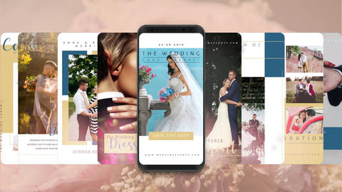 Instagram stories: wedding show After Effects Template