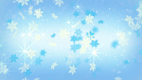 blue festive snowflakes and stars loopable background Animation
