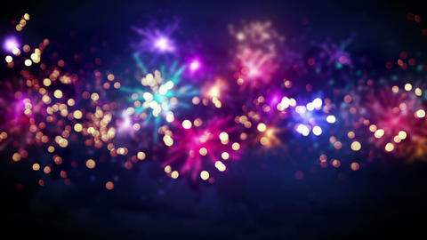 beautiful blur fireworks seamless loop background Animation