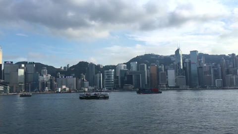 HONG KONG SKYLINE 2 clips in one - 4k video Footage