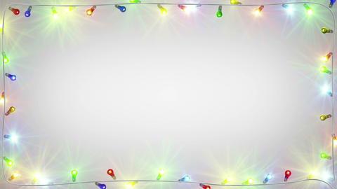 christmas light bulbs frame seamless loop Animation
