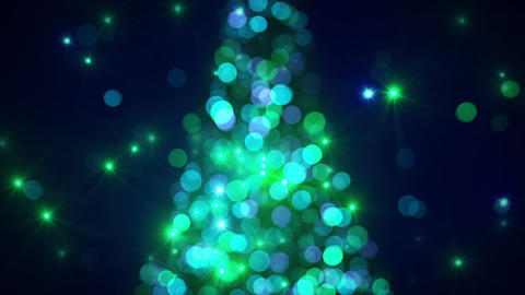 christmas tree lights out of focus flashing loopable Animation