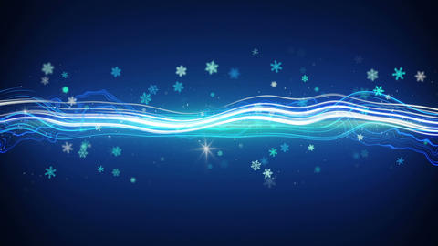 funky stripe and glowing snowflakes seamless loop Animation