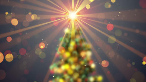 blurred christmas tree shine animation seamless loop Animation