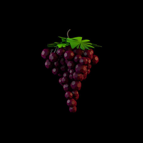 Low Poly Grapes Animation