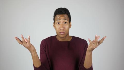 Unsatisfied Man Reacting on Task Failure Footage