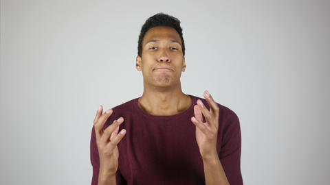 Unexpected Results, Loss, Failure Gesture by Young Man Footage