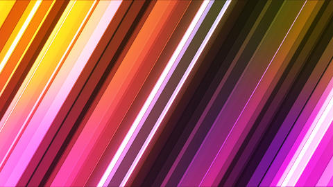 Broadcast Twinkling Slant Hi-Tech Bars, Multi Color, Abstract, Loopable, 4K Animation