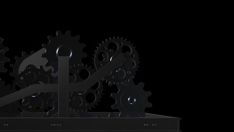 Machine Gears - Loop - Alpha - IV Animation