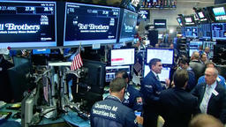 WALK THROUGH FLOOR OF THE NYSE NEW YORK STOCK EXCHANGE Footage